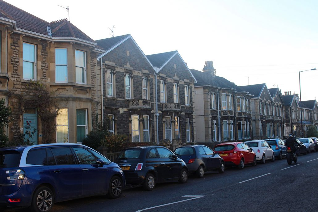 A row of house in Oldfield Park
