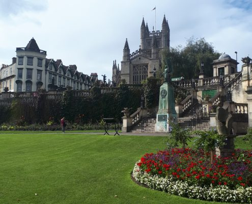 Parade Gardens and Bath Abbey