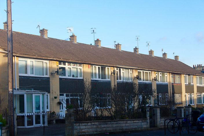 A typical row of terraced houses in Twerton