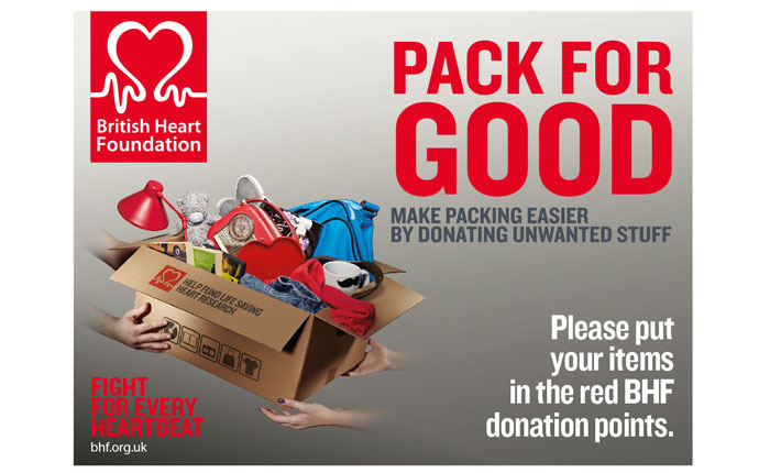 British Heart Foundation 'Pack for Good' Poster