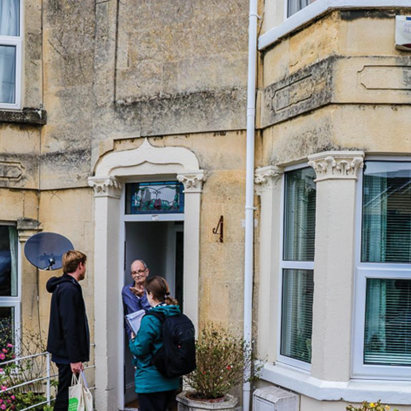 People talking during Good Neighbour door-knock