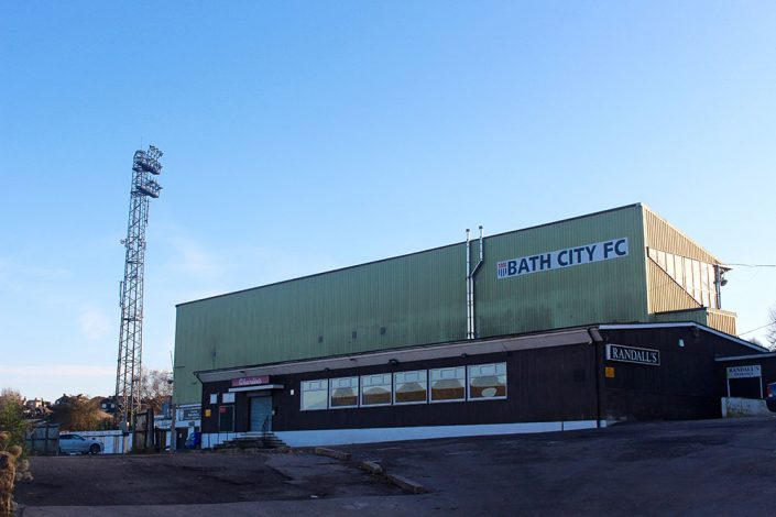 Bath Club Football Stadium from the outside